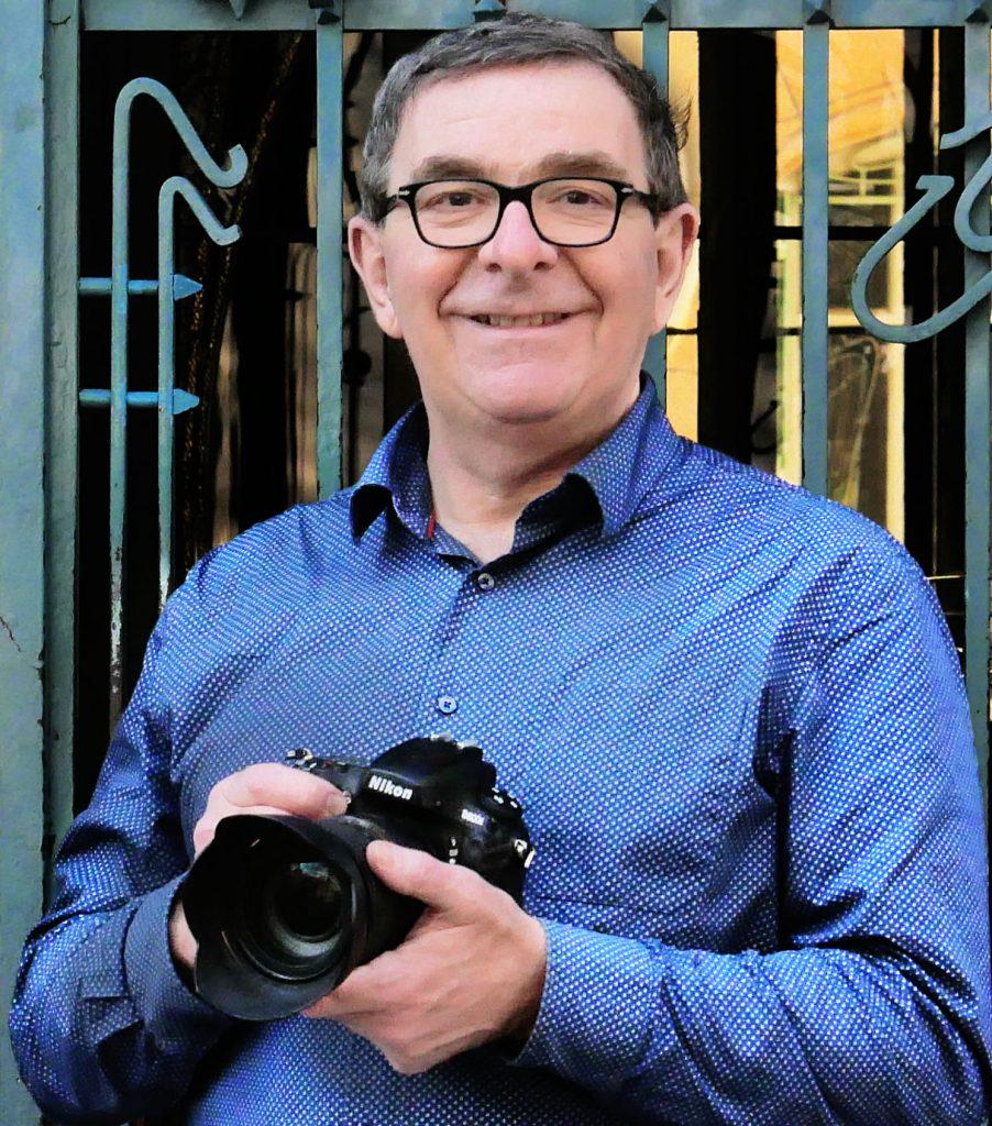Portrait de Berndt MISSA en atelier de création photo dans Paris.